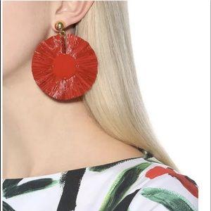 NWT Oscar De La Renta Red Disk Earrings